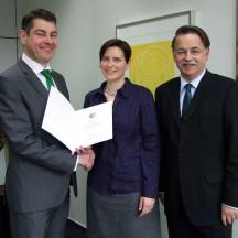 Dr. Sven Mertens, Prof. Dr. Christiane Ness und Dr. Detlef Reeker