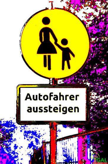 autofahrer aussteigen logo
