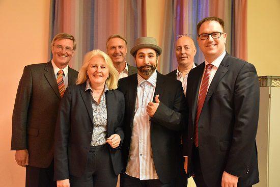 Foto. Copyright: IHK/Tietjen (von links): Thomas Misch, Kathrin Weiher, Detlev Stolzenberg, Ali Alam, Joachim Heising und Jan Lindenau