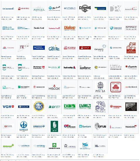 Logos- Versicherungsunternehmen